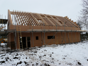 Cladding and rafters