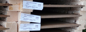 Labels on the wood